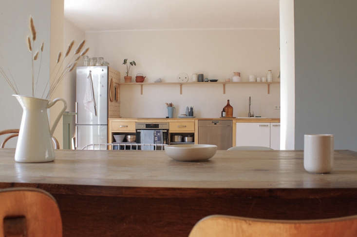 a view of the repurposed kitchen, composed ofikea&#8\2\17;s värde solid  9