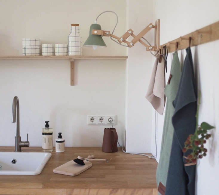 swantje continually changes up the look of her kitchen by swapping in different 16