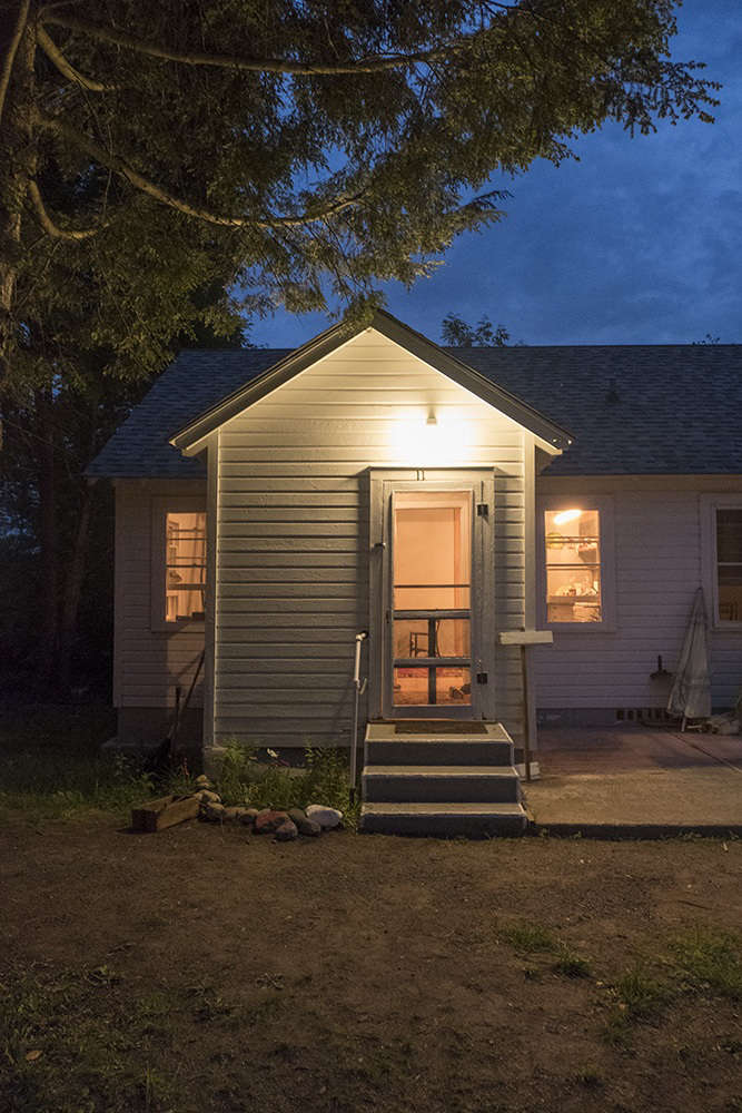 one of the cottages at night. 17