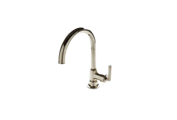 The Waterworks Henry One-Hole Gooseneck Kitchen Faucet is $