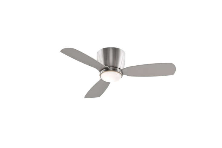 theclassic metal ceiling fan in white and brushed nickel (shown) is \$\250 at 11