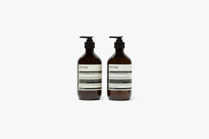 The Aesop Resurrection Duet Hand Soap and Lotion set is $loading=