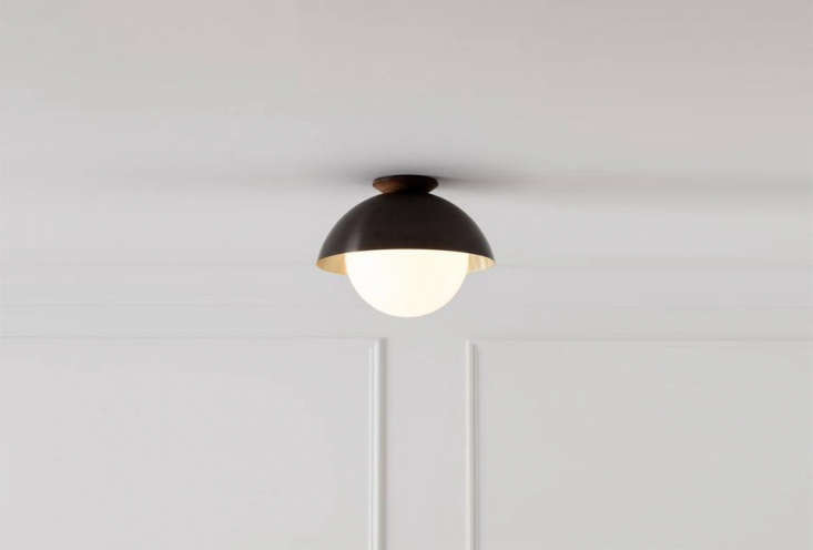 the flush dome in flat black with a wood base is \$9\25 at allied maker. 16