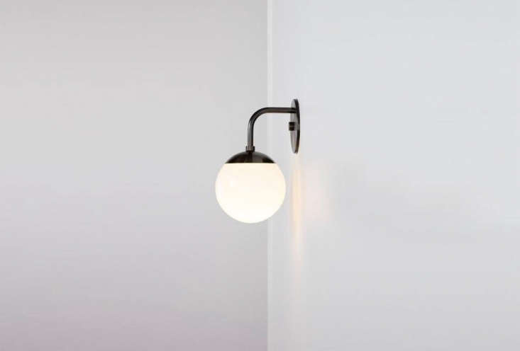 the globe sconce in flat black is \$4\20 from allied maker. 17
