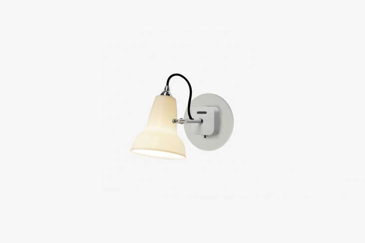 the anglepoise \1\2\27 mini ceramic wall light attaches with a cast iron and st 9