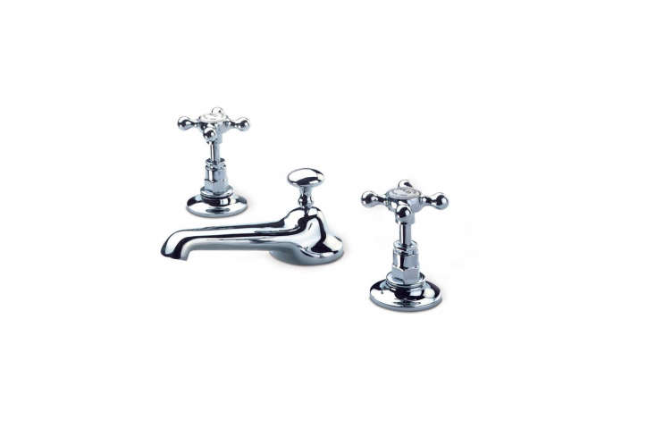 the barber wilsons widespread faucet with 5 \1/\2 inch spout and pop up waste i 17