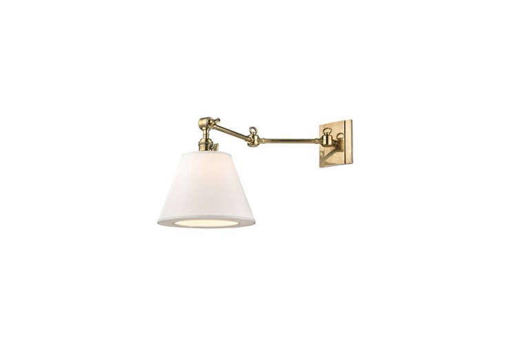 a similar light to the library style sconce in the bath is the hudson valley hi 18