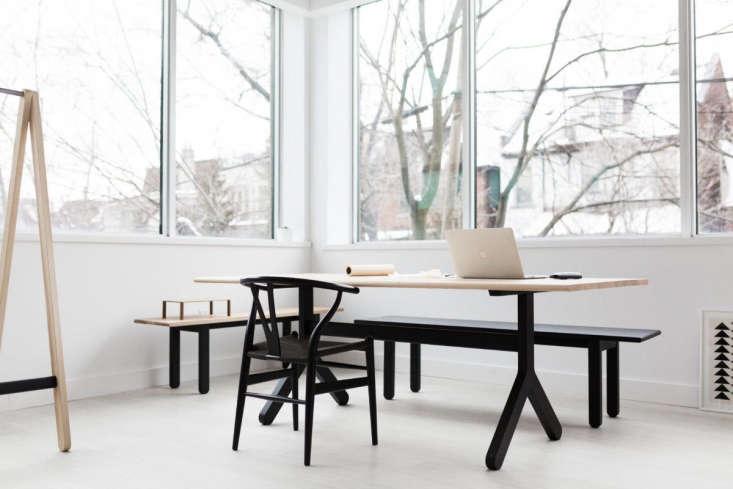 black trestle table kroft furniture canada
