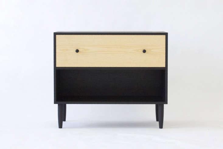 black wood nightstand kroft furniture canada