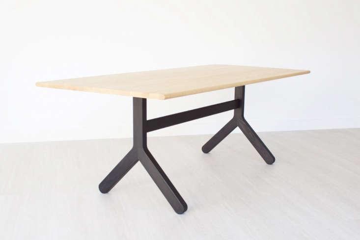 black wood trestle table kroft furniture canada jpg
