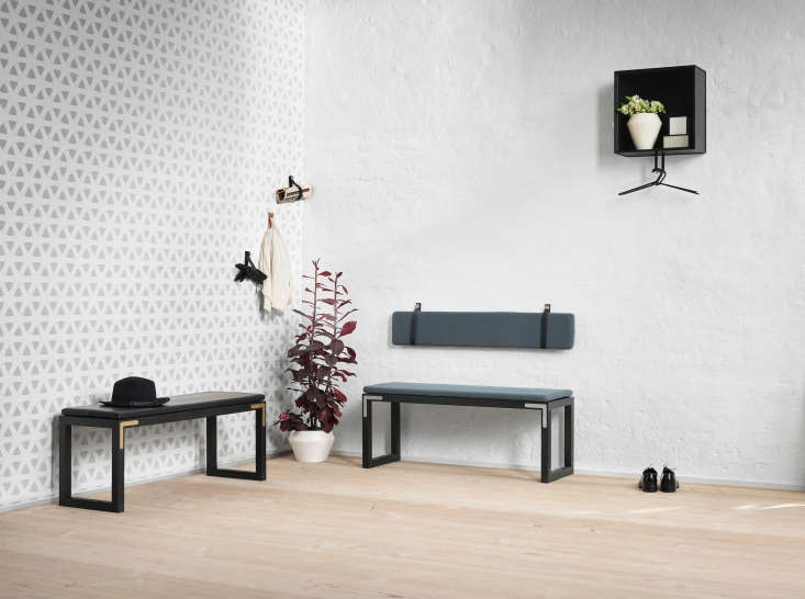 the collection is endlessly customizable. here, two conekt benches and a scatte 12