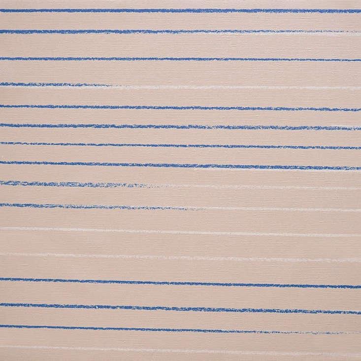 a detail of the mira & miloš zora wallpaper shows how hand drawn lines fad 14