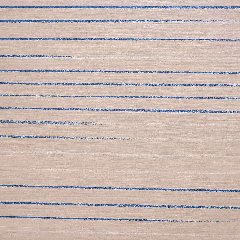 A detail of the Mira & Miloš Zora Wallpaper shows how hand-drawn lines fade from one color into another; $3