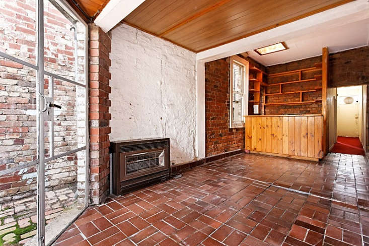 Henkell retained only the brickwork from the previous kitchen, dining, and living area.