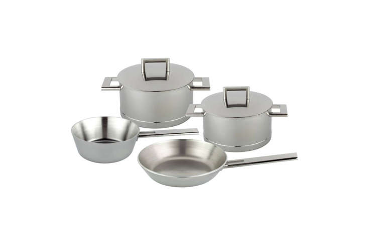 Steal This Look A Piggery Turned Kitchen Custom Larder Included Architect John Pawson&#8\2\17;s Six Piece Frying and Saute Set designed for Demeyere is \$\1,\286 for the four piece set at Horne.