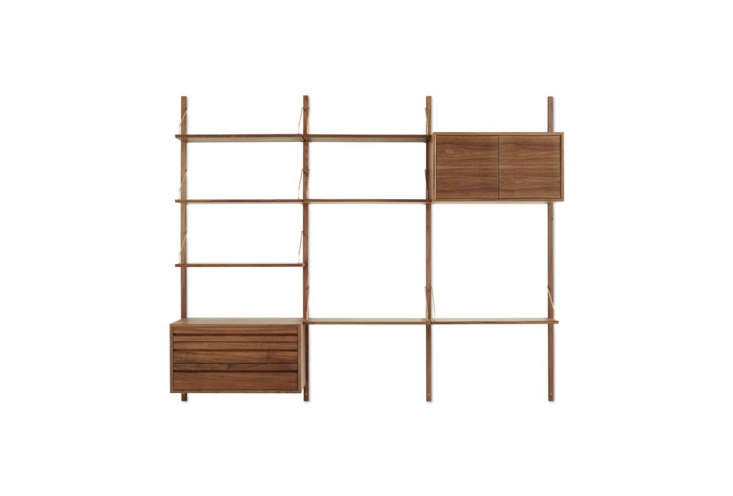 TheRoyal System Shelving Unit C from DK3 is available in oak and walnut; $5,950 at Design Within Reach.