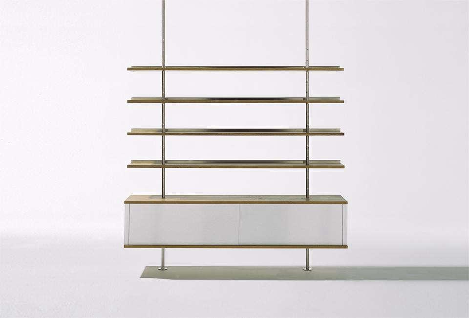 The wall-mountedEiermannShelving Unitwas designed in 3