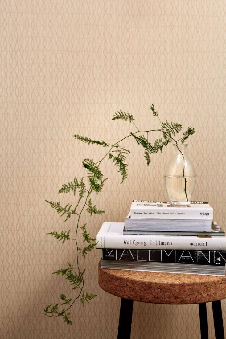 Atmospheres New Wallpaper from Ilse Crawford for Engblad amp Co TheKnit Medium Atmospheres 6\2\23 Wallpaper pattern is rippled like a cable stitch. It comes in six colors and is \$9\1 per roll at Scandinavian Wallpaper.