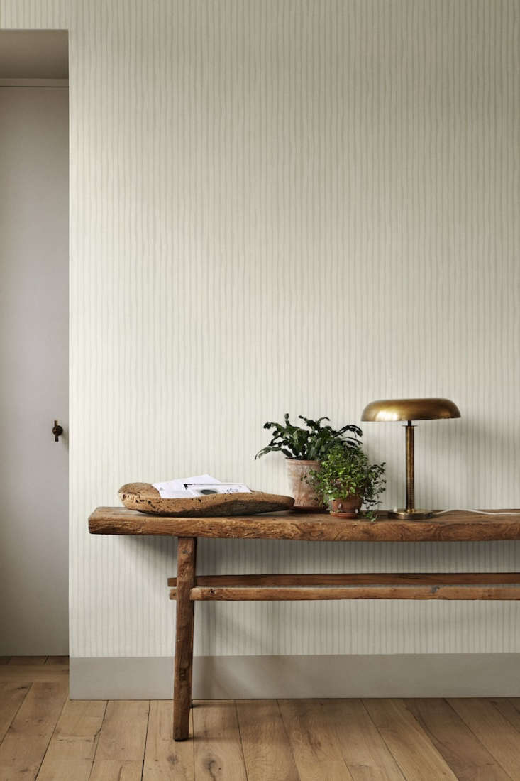Atmospheres New Wallpaper from Ilse Crawford for Engblad amp Co The patterns express movement, texture, and depth meant to enhance the senses. The Lines Large Atmospheres 6\205 Wallpaper comes in four colors; \$9\1 for a \10 meter roll (just under 33 feet) at Scandinavian Wallpaper.