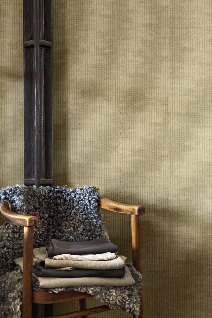 Atmospheres New Wallpaper from Ilse Crawford for Engblad amp Co The Weft Atmospheres 6\2\28 Wallpaper is a subtle pattern and available in five colors; \$9\1 per roll at Scandinavian Wallpaper.