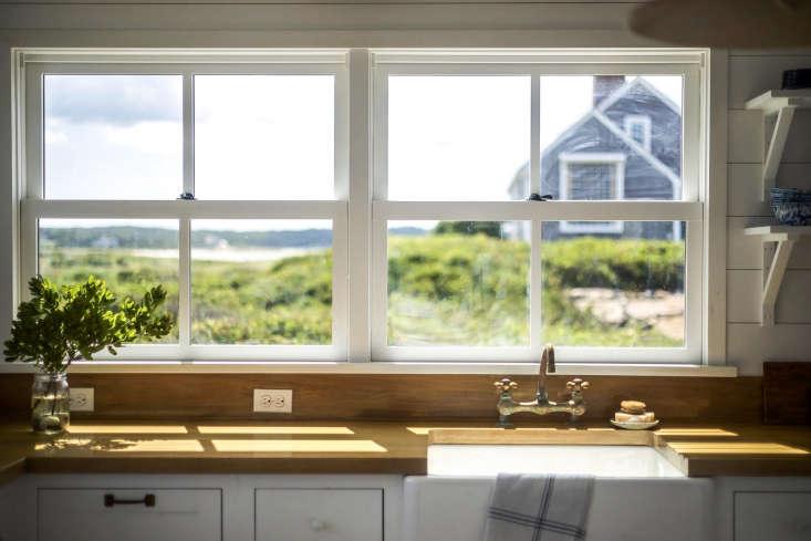 falmouth beach cottage kitchen view 2