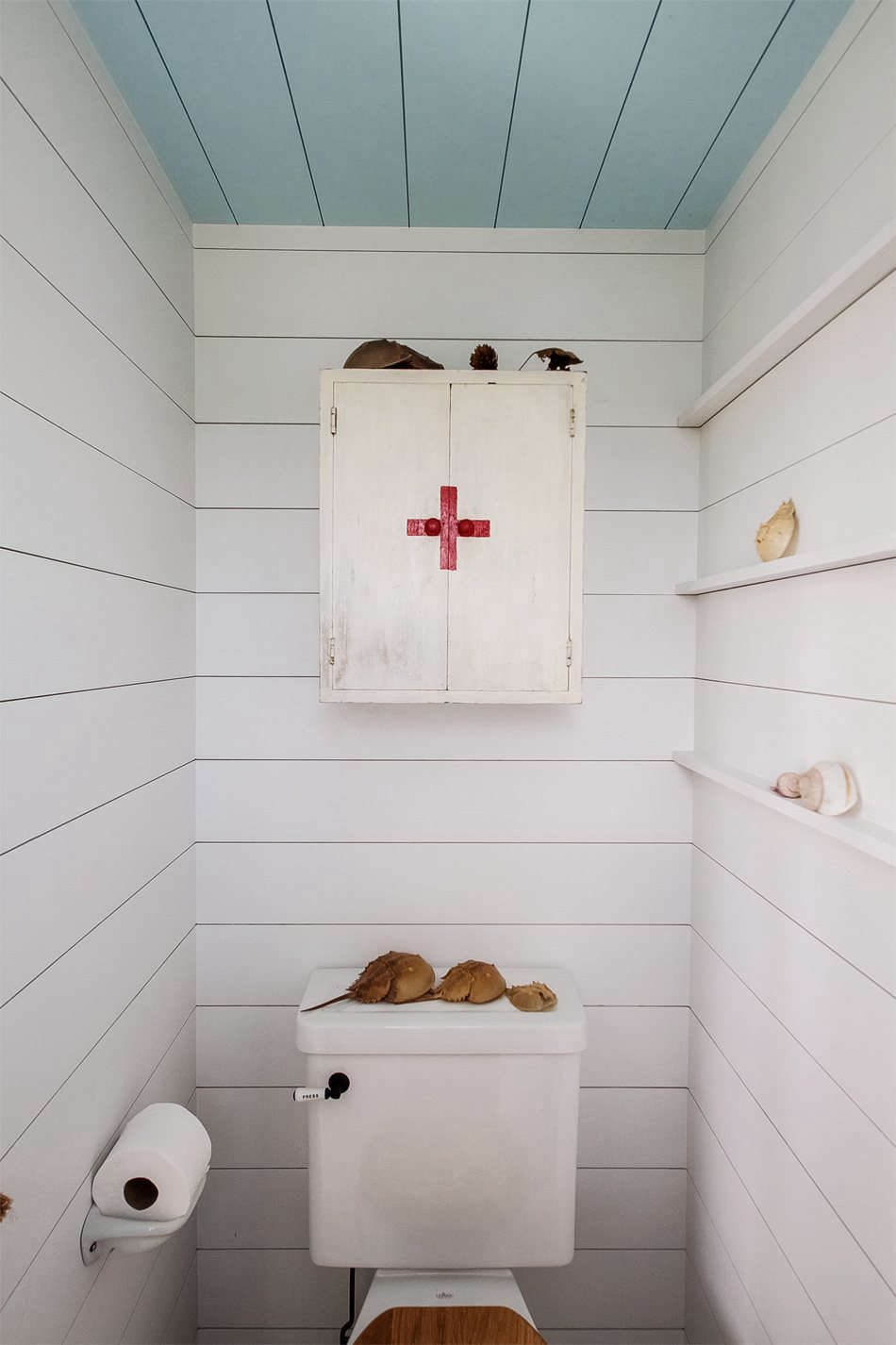 Victoria sourced the vintage bath cabinet on src=