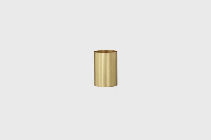 Steal This Look A Piggery Turned Kitchen Custom Larder Included The Ferm Living Brass Pencil Cup is solid brass with a matte polish is \$\29 at Lumens. Something similar is used to corral dish brushes in the kitchen.