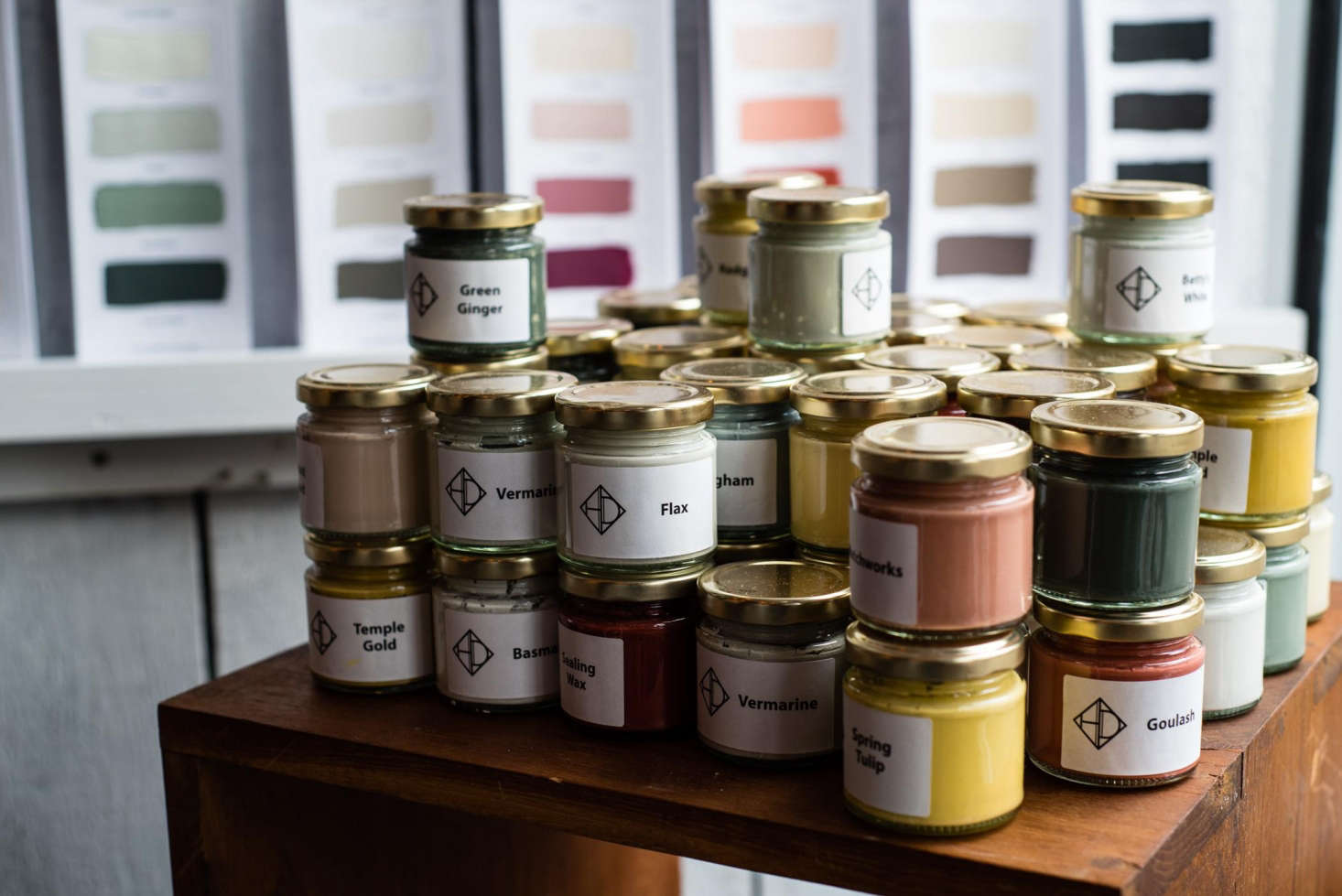 The paints continue to be hand mixed to order by a London-based color artisan.