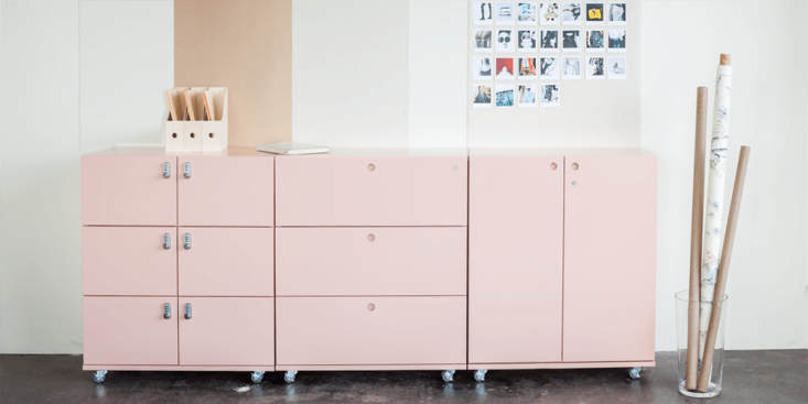 the building block lateral files, center, and shown here in blush, come in heig 12