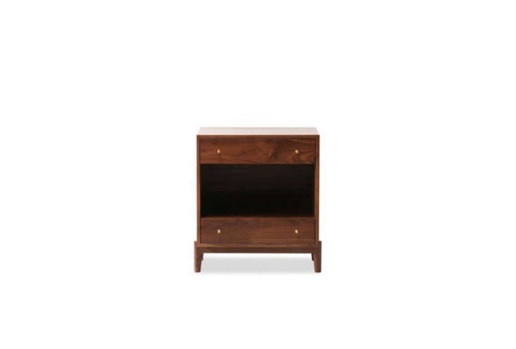 the hedge house atwater nightstand comes in a variety of wood types (in the hot 15