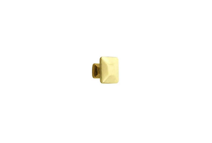 the pyramid style cabinet knob in unlacquered brass is \$5.39 at house of antiq 21