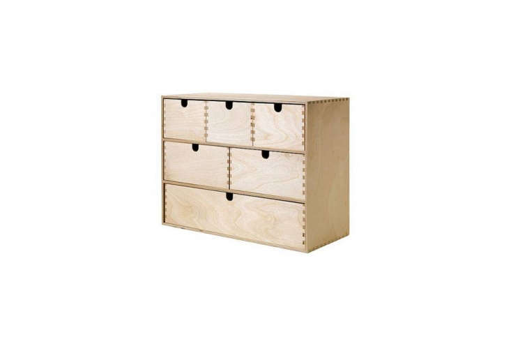 themoppe mini storage chest is made in untreated birch; \$\16.99. 16