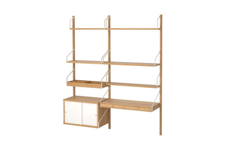 The Ikea Svalnäs Shelves remind us of midcentury design (see High/Low: Wall-Mounted Midcentury Modular Shelving). It&#8