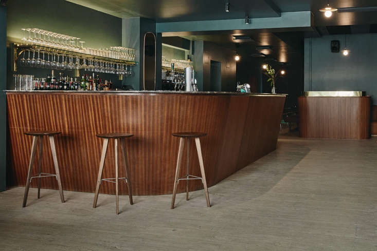 the bar is also clad in sapele wood. 12