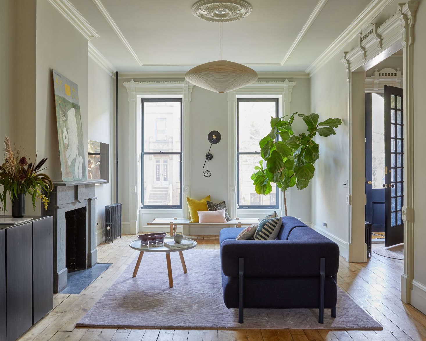 Another floor finished in water-based Bona Naturale; seeThe Sentimental Minimalist: A Young Architect's Bed-Stuy Townhouse Makeover for the full project.