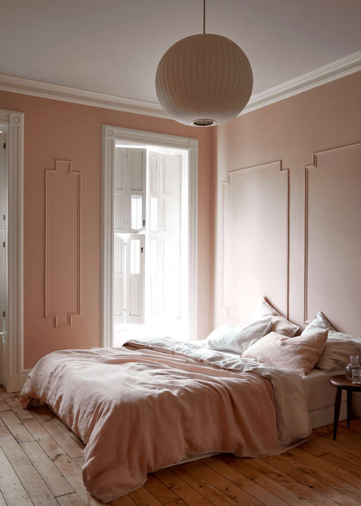 And, last but not least, this monochrome pink bedroom in Brooklyn is a longtime favorite of the Remodelista team—the first time we realized all-over pink could look sophisticated and serene. See more in The Sentimental Minimalist: A Young Architect's Bed-Stuy Townhouse Makeover.