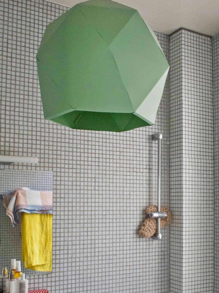 Photographer Marie Hennecharts DIY Parisian Studio Apartment Makeover Bathroom in photographer Marie Hennechart's Paris studio apartment