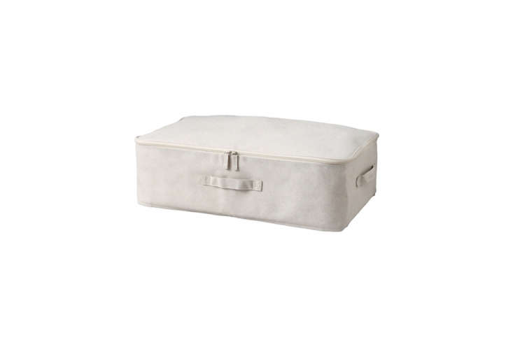a remodelista go to is the muji soft under bed storage case in cotton linen wit 20