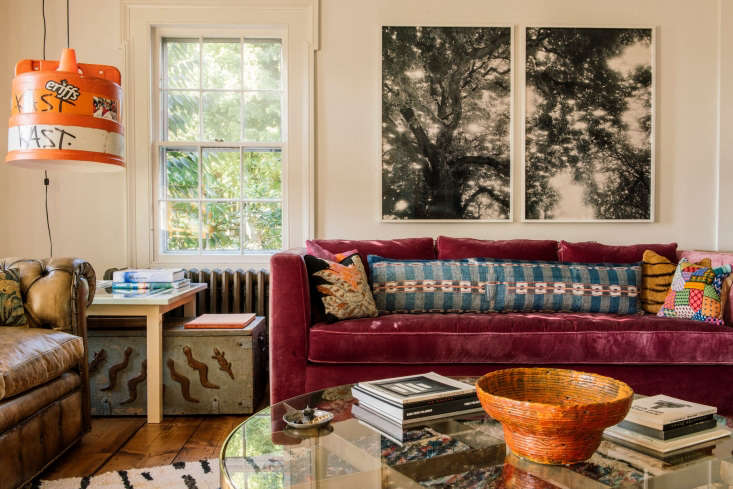 the eclectic living room. 11