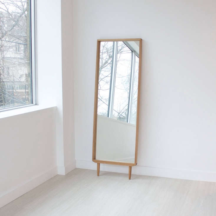 oak wood floor mirror kroft furniture canada