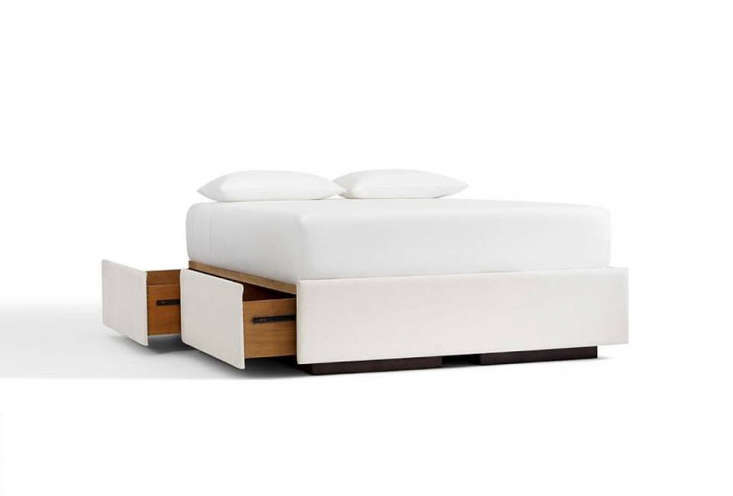 10 Easy Pieces Storage Beds Pottery Barn&#8\2\17;sUpholstered Storage Platform Bed comes in a range of fabric options; \$\1,899 to \$\2,649.