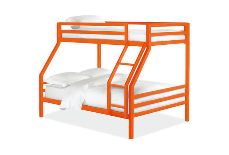 Steal This Look CampStyle Bedroom with Bold Color TheRoom & Board Fort Bunk Bed comes in different powder coating colors; \$\1,999 at Room & Board. An option at the other end of the pricing spectrum is the Acme Furniture Tracy Bunk Bed in orange; \$\273.98 on Wayfair.