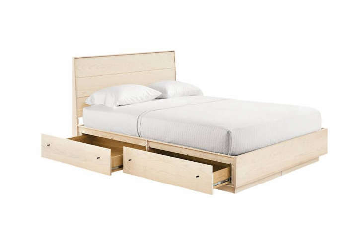 10 Easy Pieces Storage Beds The Room & Board Hudson Bed with Storage Drawers comes in a variety of wood and hardware options; \$\2,699 for the queen.
