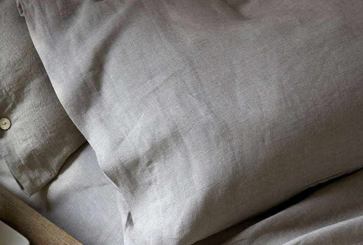 Simple Linen Pillowslips from Rough Linen are $40 each for standard size slips.