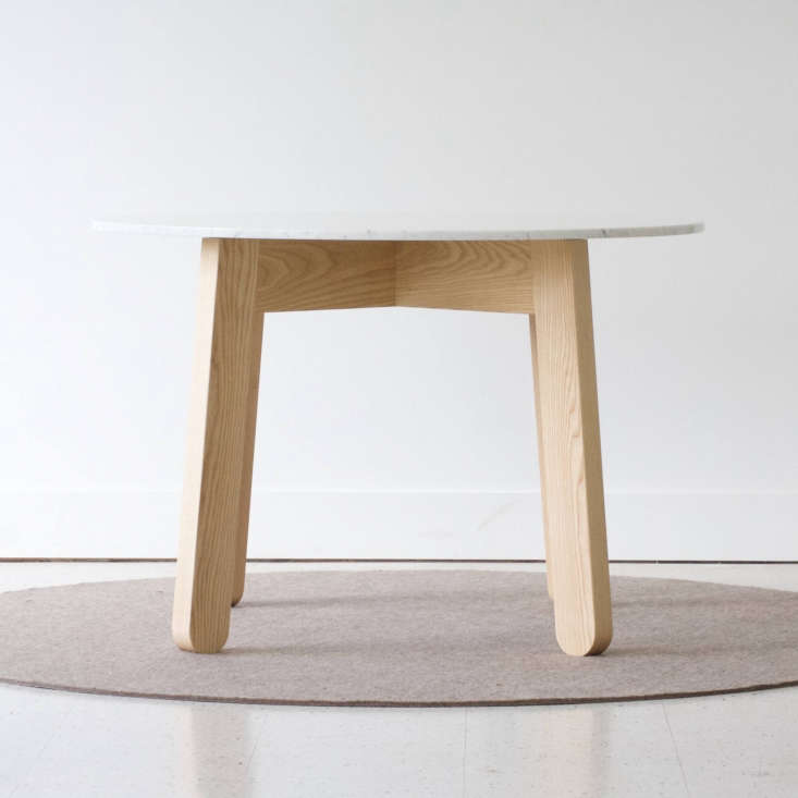 round wood marble table kroft furniture canada