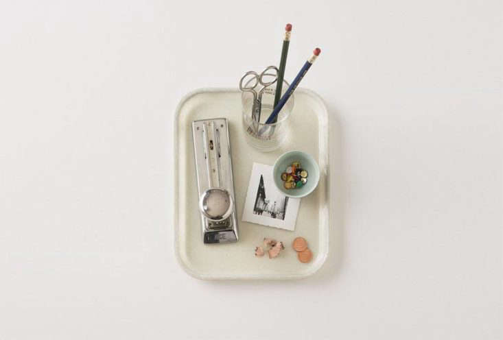 a set of durable trays will help corral loose items on top of a dresser, desk,  24