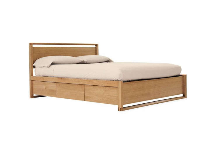 10 Easy Pieces Storage Beds Designed by Sean Yoo the Matera Bed with Storage is available in oak (shown) or walnut and has drawers beneath the elevated bed; \$4,450 for the queen at Design Within Reach.
