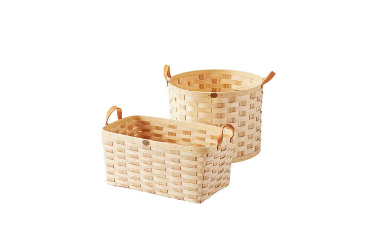 Steal This Look A Piggery Turned Kitchen Custom Larder Included A collection of Peterboro Woven Ash Baskets are \$98 to \$\1\28 each at Serena & Lily. Shop more at Peterboro Baskets.