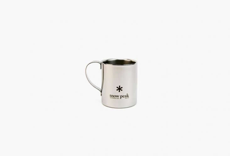 Steal This Look CampStyle Bedroom with Bold Color The Snow Peak Stainless Double \240 Mug is \$\17.95 at Snow Peak.