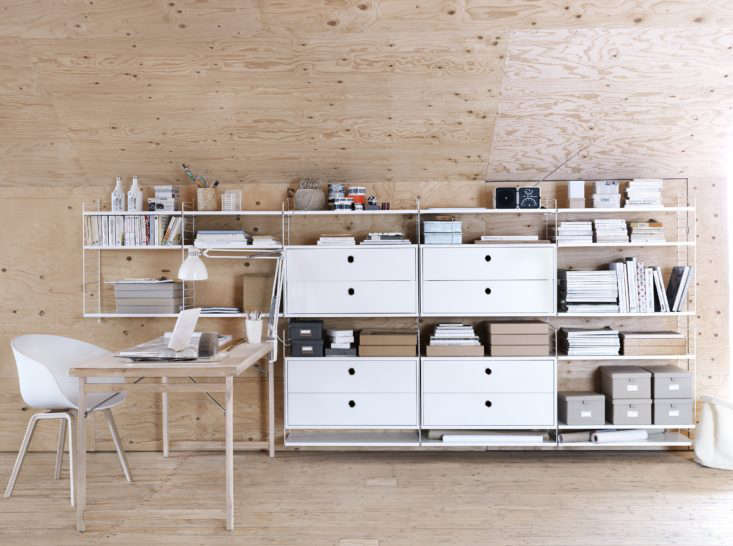 The classical String shelf modular system was designed in 46 by Swedish architect and designer Nils &#8